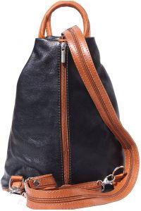 Γυναικειο Δερματινο Backpack Vanna Firenze Leather 2061 Μαύρο/Camel