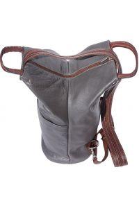Γυναικειο Δερματινο Backpack Vanna Firenze Leather 2061 Γκρι/Καφε