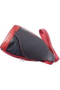 Δερμάτινη Τσάντα Πλάτης Foglia GM Firenze Leather 2060 Μαύρο/Κόκκινο