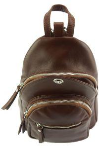 Δερμάτινη Τσάντα Πλάτης Olivia Firenze Leather 6147 Καφε