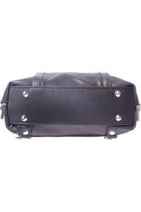 Δερματινη Τσαντα Ωμου Berri Firenze Leather B017 Μαύρο