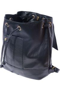 Γυναικειο Δερματινο Σακιδιο Πλατης Carolina Firenze Leather 2002 Μαύρο