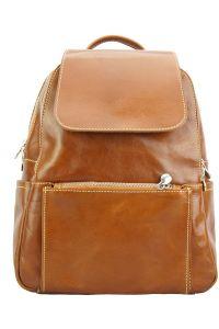 Δερμάτινη Τσάντα Πλάτης Brittany Firenze Leather 6566 Μπεζ