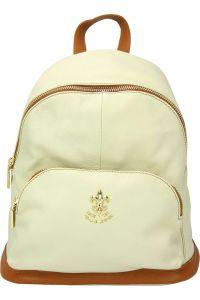 Δερμάτινη Τσάντα Πλάτης Carola Firenze Leather 9010 Μπεζ/Tan