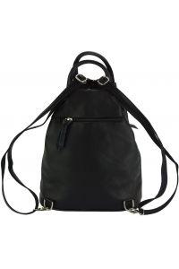 Δερμάτινη Τσάντα Πλάτης Sorbonne Firenze Leather 2064 Μαύρο