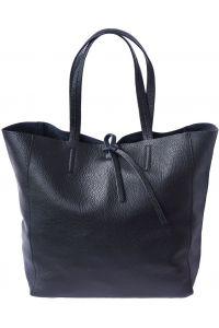 Δερματινη Τσαντα Ωμου Babila Firenze Leather 9121 Μαύρο