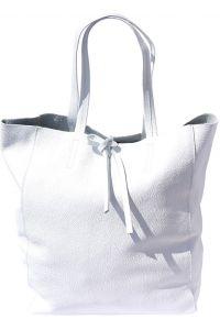 Δερματινη Τσαντα Ωμου Babila Firenze Leather 9121 Λευκο