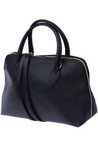 Δερμάτινη Τσάντα Χειρός Giulia GM Firenze Leather 308 Μαύρο