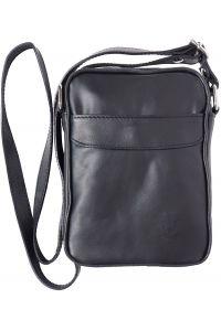 Ανδρικο Δερματινο Τσαντακι Ωμου Firenze Leather B032 Μαύρο