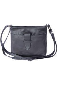 Γυναικειο Τσαντακι Ωμου Liliana Firenze Leather 8658 Μαύρο