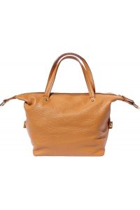 Δερματινη Τσαντα Χειρος Pia Firenze Leather B031 Μπεζ