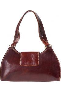 Τσαντα Ωμου Δερμάτινη Floriana Firenze Leather 6414 Καφε