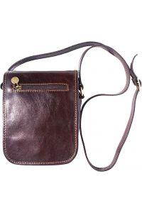 Δερματινο Τσαντακι Ωμου Αντρικό Firenze Leather 7624 Σκουρο Καφε