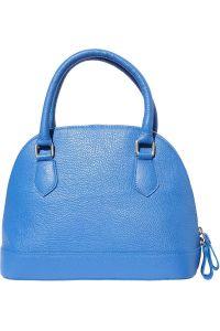Δερματινη Τσαντα Χειρος Firenze Leather 9130 Μπλε
