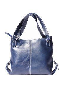 Δερματινη Τσαντα Ωμου Firenze Leather 6547 Σκουρο Μπλε