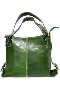 Δερματινη Τσαντα Ωμου Firenze Leather 6547 Σκουρο Πρασινο