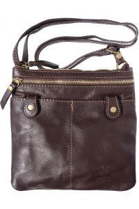 Δερμάτινο Τσαντακι Ωμου Wanda Firenze Leather 415 Σκουρο Καφε