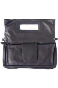 Τσαντακι Ωμου Δερματινο Giuliana Firenze Leather 9000 Μαύρο