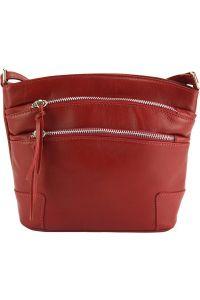 Δερματινο Τσαντακι Ωμου Arianna Firenze Leather 6119 Κόκκινο