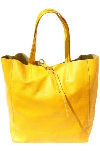 Δερματινη Τσαντα Ωμου Babila Firenze Leather 9121 Κιτρινο