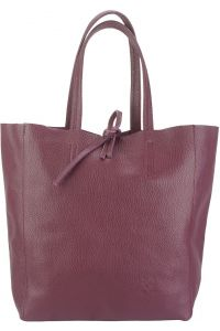 Δερματινη Τσαντα Ωμου Babila Firenze Leather 9121 Μπορντο