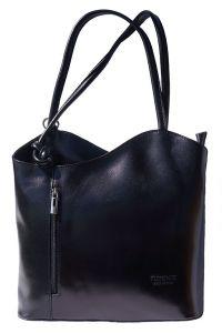 Δερμάτινη Τσαντα Ωμου Cloe Firenze Leather 207 Μαύρο