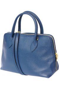 Δερμάτινη Τσάντα Χειρός Giulia GM Firenze Leather 308 Σκουρο Μπλε