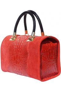 Δερματινη Τσαντα Χειρος Emma Firenze Leather 7002 Κόκκινο