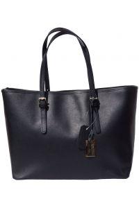 Δερμάτινη Τσαντα Tote Eloisa Firenze Leather 8059 Μαύρο