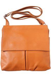 Τσαντα Ωμου Δερματινη Oriana Firenze Leather 2086 Μπεζ
