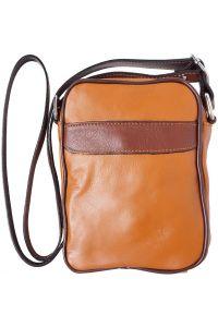 Ανδρικο Δερματινο Τσαντακι Ωμου Firenze Leather B032 Μπεζ/Καφε