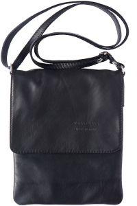Δερματινη Τσαντα Ωμου Vala Firenze Leather 414 Μαύρο