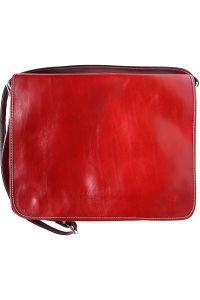 Τσάντα Ταχυδρόμου Δερματινη Firenze Leather 6555 Κόκκινο