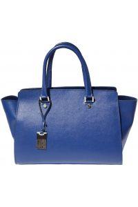 Τσαντα Χειρος Δερματινη Nicoletta Firenze Leather 8060 Μπλε
