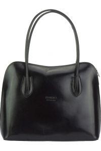 Δερμάτινη Τσάντα Ωμου Claudia Firenze Leather 216 Μαύρο