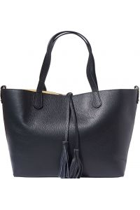 Δερματινη Τσαντα Ωμου Belinda Firenze Leather 8063 Μαύρο