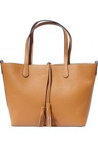 Δερματινη Τσαντα Ωμου Belinda Firenze Leather 8063 Μπεζ