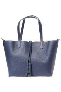 Δερματινη Τσαντα Ωμου Belinda Firenze Leather 8063 Σκουρο Μπλε