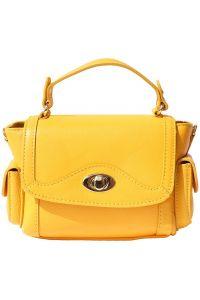 Δερματινο Τσαντακι Χειρος Firenze Leather 6142 Κιτρινο