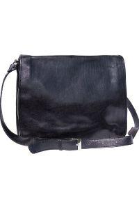 Δερματινη Τσαντα Ταχυδρομου Mirko GM Firenze Leather 6517 Μαύρο