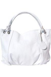 Δερμάτινη Τσαντα Χειρος Alessandra Hobo Firenze Leather 3005 Λευκο