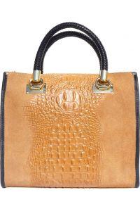 Δερμάτινη Τσαντα Tote Χειρος Firenze Leather 7004 Μπεζ
