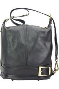 Γυναικεια Δερματινη Τσαντα Ωμου Caterina Firenze Leather 300 Μαύρο