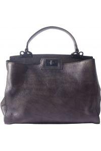 Δερμάτινη Τσάντα Χειρός Peekaboo Firenze Leather 68021 Μαύρο