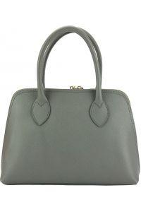 Δερμάτινη Τσάντα Χειρός Giulia Firenze Leather 304 Σκουρο Γκρι