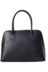 Δερμάτινη Τσάντα Χειρός Giulia Firenze Leather 304 Μαύρο