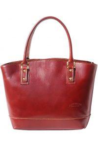 Δερμάτινη Tote Τσαντα Χειρός Firenze Leather 204 Καφε