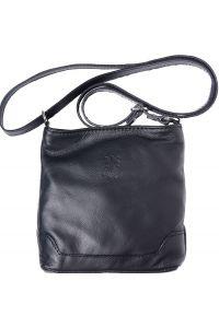 Δερματινο Τσαντακι Ωμου Felicita Firenze Leather 8685 Μαύρο
