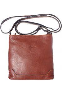 Δερματινο Τσαντακι Ωμου Felicita Firenze Leather 8685 Καφε