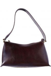 Δερμάτινη Τσάντα Ωμου Priscilla Firenze Leather 6504 Σκουρο Καφε e4e4d0586e4